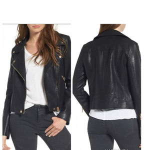 BlankNYC Faux Leather Moto Gold Accents XS